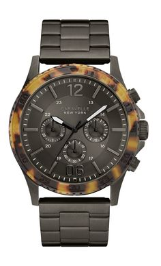 CARAVELLE NEW YORK 45A125 Men's Black Chronograph Watch  a03e441ee3c6