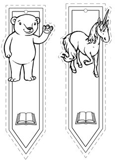 BOOKMARKS | learningenglish-esl Coloring Pages To Print, Coloring For Kids, Colouring Pages, Free Coloring, Coloring Books, Bookmarks Kids, Corner Bookmarks, Hobbies And Crafts, Crafts For Kids