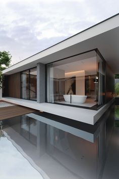 I love those windows! Piano House is designed by LINE architects and is located in // Photo by Bajura Oleg - Architecture and Home Decor - Bedroom - Bathroom - Kitchen And Living Room Interior Design Decorating Ideas - Residential Architecture, Contemporary Architecture, Interior Architecture, Luxury Interior, Room Interior, Architecture Drawing Plan, Luxury Furniture, Home Luxury, Organic Architecture