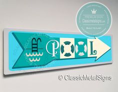 Classic Style Pool Sign – UV Protected Weatherproof Signs Suitable for Outdoor or Indoor Use – Exclusively from Classic Metal Signs