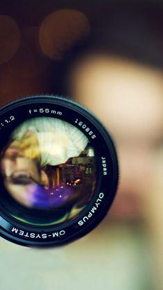 55MM Olympus Camera Lens #iPhone #5s #wallpaper