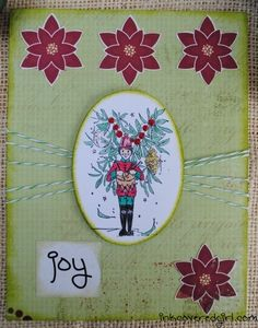 Christmas card using a stamp by Joanna Bromley from Queen Kat Designs