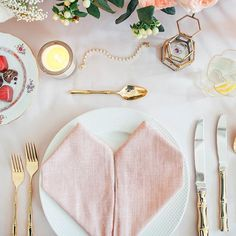 Valentine's Day table setting by @calderclark, shot by @caitlin_colcolough_films with @croghans and @christophe_chocolatier featured by @ruemagazine #chocolate #chocolates #valentinesday #love #handmade #foodie #foodiecrush #heartnapkin #heart #heartfold #goldbamboo #bambooflatware #jewels #diamonds