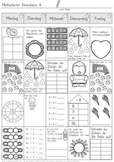 Vier-Tage-Mathe-Training (Zahlenraum bis 20) -   1.o. matek ...