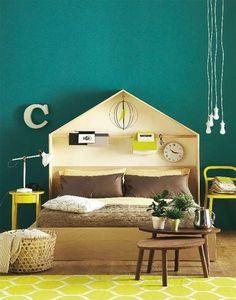Idee per arredare la camera da letto con il verde petrolio - Pareti ...