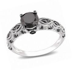 black diamonds rings | simple black diamond engagement rings