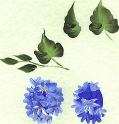 Hydrangea Class Worksheet - One Stroke FolkArt Painting - Arts by the Kickapoo  https://www.facebook.com/#!/kickapooartworks?fref=ts