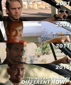 Very different. #pw #livefastdieyoung #paulwalker #brianoconnor #fast7…