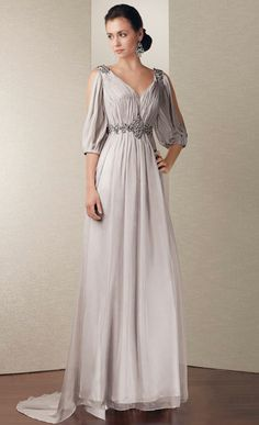 mother of the groom dress. Love these sleeves