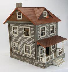 Two-Story Schoenhut Dolls' House : Good design and style. .....Rick Maccione-Dollhouse Builder www.dollhousemansions.com