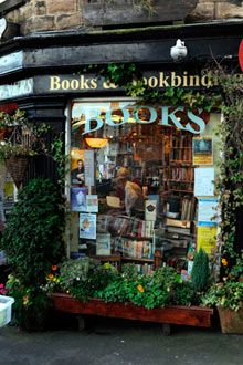 Link to an article about great bookstores around the world. Pictured: Scrivener Books, Derbyshire, UK