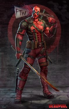 herochan:  Deadpool FTWCreated by Andy Timm