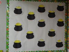 Dot painting pot of gold Bulletin Board