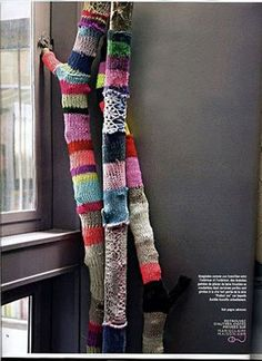 I just wrapped branches in yarn last month!  This is another great idea.
