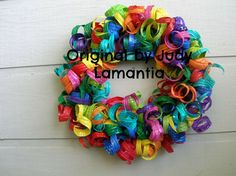 A new take on wreaths out of recycled plastic bottles... - Dale's Blog - Couture Jewelry and Design by Dale Wayne