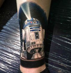"16 Amazing Star Wars Tattoos—Including one from ""The Force Awakens."" http://illusion.scene360.com/art/88403/star-wars-tattoos/ #starwars #r2d2 #forceawakens"