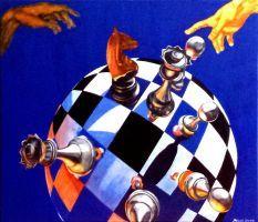 """ Der Finger Gottes "" Acryl  60 x 70 cm"