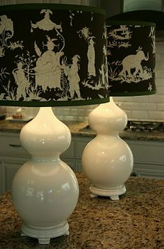 Isabella & Max Rooms: Table Lamp Happiness! How to make spray painted lamps glossy.