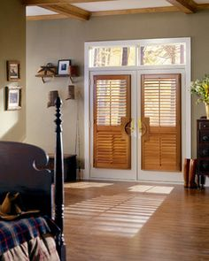 Who knew you could put Shutters on a french door?!?! Awesome!