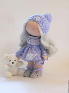 Коллекционные куклы ручной работы. Сиреневая малышка. Лариса Фоминич. Интернет-магазин Ярмарка Мастеров. Кукла ручной работы, полушерсть