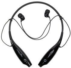 LG Bluetooth Wireless Bluetooth Stereo Headset Black Silver
