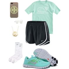 """""""School"""" by prepbythesea on Polyvore   tiffany free runs 3 ,tiffany blue nikes outfit for runner, all nike shoes for over 53% off"""