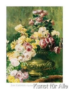 Jean Capeinick - Opulent Still Life with Roses