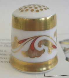 Art Deco Thimble The Historical Thimble Collection Royal Crown Derby