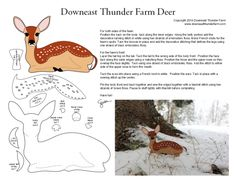 Tiny felt deer pattern you can hand stitch. The pattern is easy and free! This would be easy enough for even the sewing beginner.