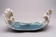 Simply Creative: Ocean-Inspired Ceramic Sculptures by Denise Romecki - Ceramic Art, Ceramic Pottery Ceramic Pottery, Pottery Art, Ceramic Art, Pottery Sculpture, Sculpture Art, Ceramic Sculptures, Kintsugi, Paperclay, Pottery Studio