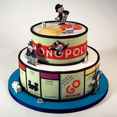 Monopoly cake by Charm City Cakes. Crazy Cakes, Fancy Cakes, Cute Cakes, Pretty Cakes, Beautiful Cakes, Amazing Cakes, Pink Cakes, Unique Cakes, Creative Cakes