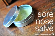 FOR HIS FALL/WINTER SNIFFLES How to Make a Calendula & Shea Butter Nose Salve
