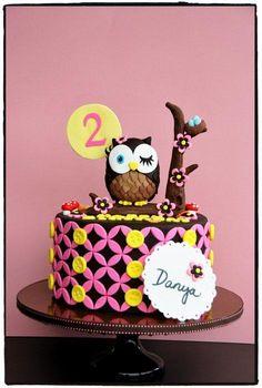 Vintage Owl Cake