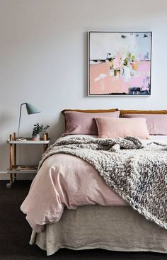 muted pinks and grays with metallic accents.