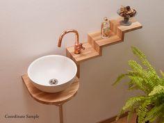 木製手洗カウンター E-type (平置型) ナチュラル -手洗カウンター [ 木製 ]-|SDC TEIAN shop