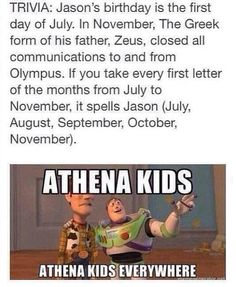 If I was a demigod, I'd. Be an Athena kid, not  gonna lie.