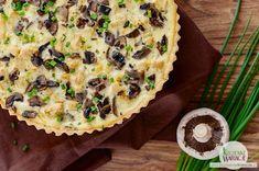 Tarta serowa z kurczakiem i pieczarkami Sprout Recipes, Sprouts, Quiche, Roast, Food And Drink, Bread, Breakfast, Desserts, Gastronomia