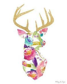 Pink Gold Watercolor Deer Art Print, Printable Digital Art Stag Deer Antler Head Wall Art Decor Home Office Nursery Decor Wall Artwork - Deer Art Print Watercolor Art Print Digital Art par PennyJaneDesign - # Deer Art, Stag Deer, Watercolor Deer, Deer Decor, Wall Art Decor, Nursery Decor, Printable Art, Canvas Art, Artsy