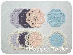 ちいさなハートのお花モチーフ*2種類の作り方|編み物|編み物・手芸・ソーイング|ハンドメイド・手芸レシピならアトリエ