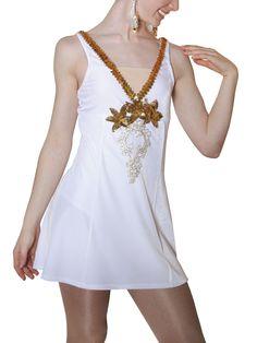 Jalie 2674 - Empire-Waist Crossover Dress (with modesty panel) Vogue Dress Patterns, Dress Sewing Patterns, Pattern Sewing, Skating Dresses, Dance Dresses, Princess Line Dress, Dress Up Costumes, Costume Ideas, New Dress