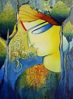 Divine expression of love by #artist Nitu Chhajer. #art #artwork #artlove #artlover #loveart #painting #paintingstyle #color #gallery #decor #homedecor #officedecor #picture #pictureoftheday