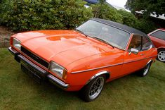 Ford Capri, mine was Red/Black vinyl roof !