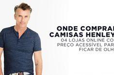 Onde comprar Camisas Henley por Preço Acessível  1723bef60c201
