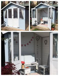 Summerhouse interior decor ideas for the ultimate lady shed summer house garden, summer house paint Small Summer House, Summer House Garden, Home And Garden, Summer Houses Uk, Summer House Interiors, Cottage Interiors, Home Interior Design, Interior Decorating, Decorating Ideas