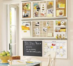 message board and wall organizer