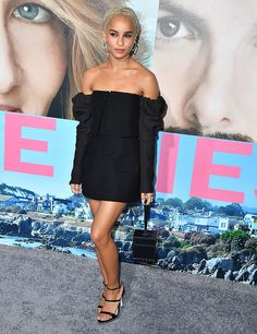 Zoe Kravitz arrives at the Premiere Of HBO's 'Big Little Lies' at TCL Chinese Theatre on February 7 2017 in Hollywood California