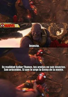 Read Arácnido from the story Memes marvel by sofi_cuqui (Sofi🌙) with 218 reads. Avengers Memes, Marvel Memes, Marvel Dc Comics, Marvel Avengers, Marvel Universe, Mundo Marvel, Rap, Spanish Memes, Book Memes