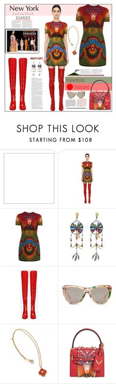 """""""Valentino Volcano"""" by fassionista ❤ liked on Polyvore featuring ASOS, Valentino, Gucci and Van Cleef & Arpels"""