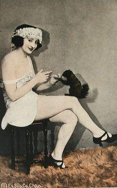 Flapper with Taxidermy Squirrel by WonderfullyStrange, via Flickr