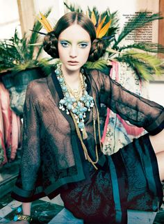 Orient Excess | Codie Young | Nicole Bentley #photography | Vogue Australia April 2011